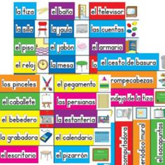 Classroom Labels: Spanish Spanish Grammar, Spanish Phrases, Spanish Language Learning, Teaching Spanish, Spanish English, Spanish Lessons For Kids, Spanish Basics, Spanish Activities, Learn Spanish