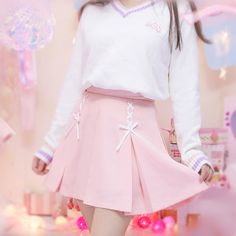Japanese lolita pleated strappy skirt