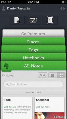 Evernote iPhone App Demo: http://www.appdemostore.com/demo?id=2689345