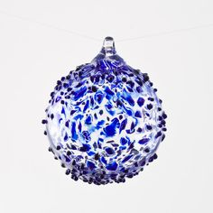 Boyce Art Glass Blue Art Glass Ornament