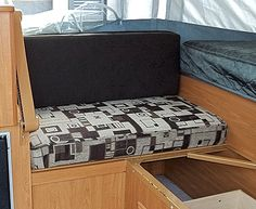 I mentioned in a earlier post (When It Rains…It Pours) that I am recovering 12 cushions (and making 9 curtain panels) for a 2002 pop up camper that my husband and I bought together with our d… Vintage Trailers, Camper Trailers, Travel Trailers, Camper Cushions, Seat Cushions, Pillows, Old Campers, Happy Campers, Camping Glamping