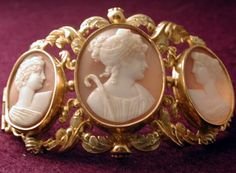 Cameo buckle, possibly French, c. 1840-1850.