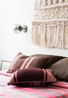 The perfect way to reimagine vintage with rug pillows!