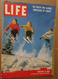 Life Magazine February 8, 1960 Girl's Olympic Ski team on Cover! by SweetbriarTreasures on Etsy
