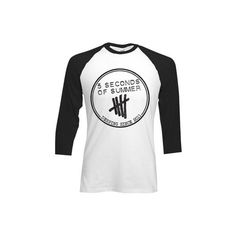 5SOS Derping Stamp Baseball T-Shirt ❤ liked on Polyvore featuring tops, t-shirts, 5 seconds of summer, 5sos, baseball tee, baseball tshirt, summer tees, summer t shirts and summer tops