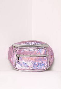 Missguided - Holographic Pink Bum Bag