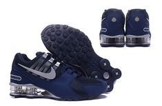 Mens Nike Shox Avenue NZ Dark Blue Silver Footwear Popular Nike Shoes 16e854bb1