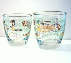Vintage Mid Century Barware Nautical Seashore   I love these!  I have 3 and I'm always looking for more  :o)