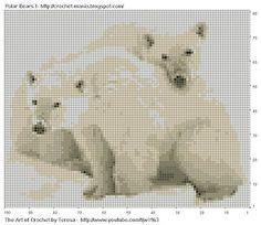 Painted Tapestry Crochet: Crochet Polar Bears
