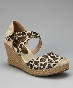 This Leopard Hepburn Espadrille by Coconuts is perfect! #zulilyfinds