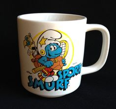Sporty Smurf Coffee Mug Golf Tennis Baseball Cup Poyo Wallace Berrrie & Co 1981  | Collectibles, Animation Art & Characters, Animation Characters | eBay!