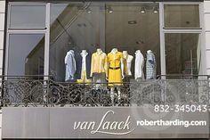Shop window, Van Laak fashion boutique on the Residenzstrasse, Munich, Bavaria, Germany
