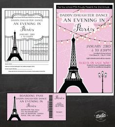 An Evening In Paris  Daddy-Daughter Dance  by jjinspirationstudio