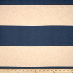 Cabana Stripe Blend Indigo $10.98/yard