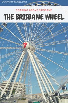 A great way to spend a day in Brisbane. Soar above the ground on the Brisbane Wheel at Southbank. Well worth a visit when next you travel to Brisbane. Brisbane City, I Want To Travel, Us Travel, Australian Holidays, Queensland Australia, Places Of Interest, Travel Around, Over The Years
