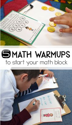 I love using math warm ups as a way to get your students ready for a lesson in math workshop! I love all five of these warm ups - but number 2 is definitely my favorite!