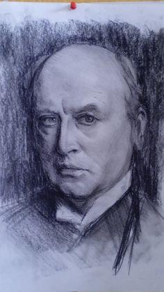 After John Singer Sargent Charcaol on paper 40 x 30 cm For sale