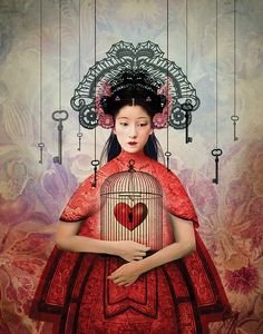 "Cincinnati Opera's 2015 Season: ""Turandot"" - illustration by Catrin Welz-Stein Cincinnati, Turandot Opera, Photografy Art, Frida Art, Illustrator, Arte Pop, Pop Surrealism, Heart Art, Whimsical Art"