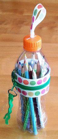 BushcraftZ: DIY recycle: Plastic bottle pencil case