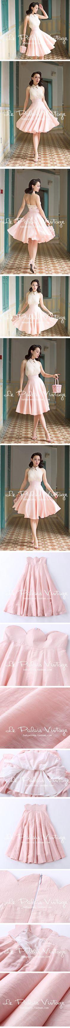Classic 50s-style teatime dress with full skirt #lepalaisvintage