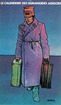 Moebius - Cover calendar Les Humanoïdes Associés, Paris, 1981