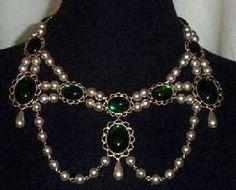 """Sapphire & Sage - Renaissance & Medieval Necklace Collection-- """"Bridget"""" Necklace"""