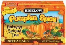 Bigelow Tea Pumpkin Spice Cupcake Recipe - pumpkin spice cupcakes w/a cream cheese frosting - YUM!