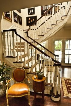 Traditional staircase .. interior design ideas and home decor by Brownhouse Design, Los Altos, CA