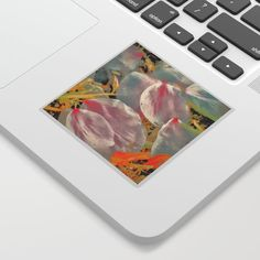 Cherry blossom - petals Sticker by transreal Cherry Blossom Petals, Cute Laptop Stickers, Laptops, Notebooks, Adhesive, Printer, Kiss, Phones, Surface