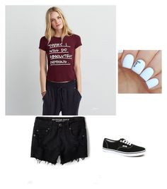 """""""American Eagle #3"""" by maybeckc ❤ liked on Polyvore featuring American Eagle Outfitters and Vans"""