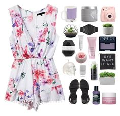"""""""can't read my poker face"""" by burning-citylights ❤ liked on Polyvore featuring ASOS, W2 Products, NARS Cosmetics, red flower, Sisley Paris, Swatch, Pelle, Korres, Eyeko and Cotton Candy"""