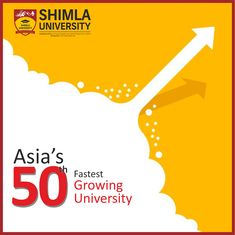 With a vision to achieve academic excellence, Shimla University has established and aligned the university academic system at par with the top ranked International universities which includes Industry focused syllabus and research oriented learning.  As a result we have grown exponentially over the period of time and have been adjudged as Asia's Top 50th Fastest Growing University by International Ranking Agency, WCRC.