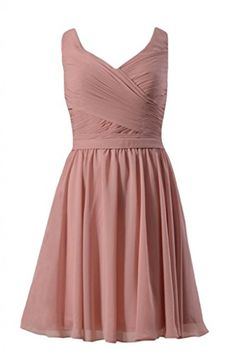 DaisyFormals Short Deep V-Neckline Chiffon Bridesmaid Dress(BM5196S)- Dusty Rose DaisyFormals http://www.amazon.com/dp/B00QJRQHPK/ref=cm_sw_r_pi_dp_.wYEvb0XX7RF1