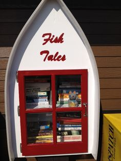 Jennifer Lee. Nisswa, MN. Fish Tales was born from an idea of my husband, Dan. Having ties to the original Lund Boat builders, he used his memories to design and build our LFL. Upon completion, the Library was donated to the City of Nisswa and placed by the new Welcome Center where visitors and residents can share their love of books.