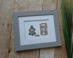 Pebble art / yoga pebble art / downward dog / Namaste / Yoga