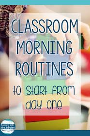 Preschool and Kindergarten classroom management is all about routines and procedures. How you transition from circle time to learning activities can be a struggle but these 5 essential routines will help you launch a successful school year! Kindergarten Morning Routines, Kindergarten Circle Time, Classroom Morning Routine, Preschool Routine, Kindergarten First Week, Preschool Transitions, Kindergarten Calendar, Teaching Kindergarten, Teaching Tips