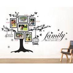 Family Tree & Quote Wall Sticker Set | ACHICA