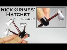 Miniature Tutorial: Rick Grimes' Hatchet (TWD) - YouTube