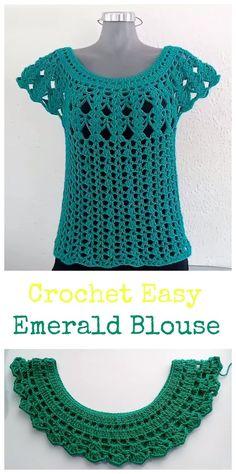 Crochet Easy Emerald blouse