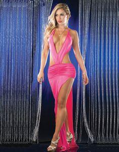 Sexy pink club dresses