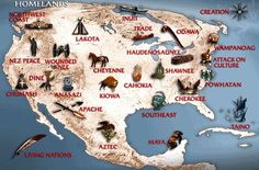Image Detail for - map showing the location of native american tribes in north america