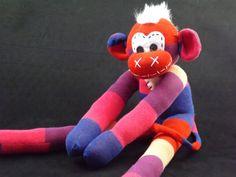 Handmade sock monkey: Aiden  The original handmade by ChikiMonkeys