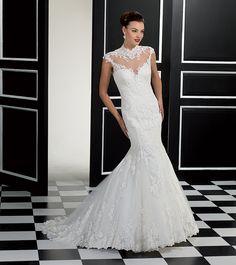 Style 77946, Eddy K Bateau Wedding Dress, Wedding Dresses 2014, Eddy K Wedding Gowns, Elegant Wedding Dress, Wedding Bridesmaid Dresses, Bridal Gowns, Jewel, Floor, Retro
