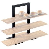 Cal-Mil 1464-13 Black Three Tier Frame Stand - 18 1/4 inch x 11 inch x 25 inch