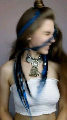 Braided Bun Hairstyles, Dread Hairstyles, Cool Hairstyles, Hot Hair Styles, Curly Hair Styles, Blonde Hair With Blue Highlights, Amber Hair, Hippy Fashion, Synthetic Dreadlocks