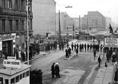 Checkpoint Charlie, Berlin, circa 1961. Visited this in 2014.