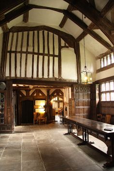 The Great Hall, looking west towards the screens passage