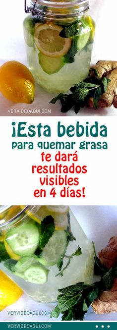 ¡Esta bebida para quemar grasa te dará resultados visibles en 4 días! #bebida #agua #adelgazar #bajardepeso #perderpeso #dieta