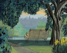 park scenery still from 101 Dalmations
