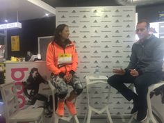 Jo Pavey fields questions from guests and the adidas team at The Running Works